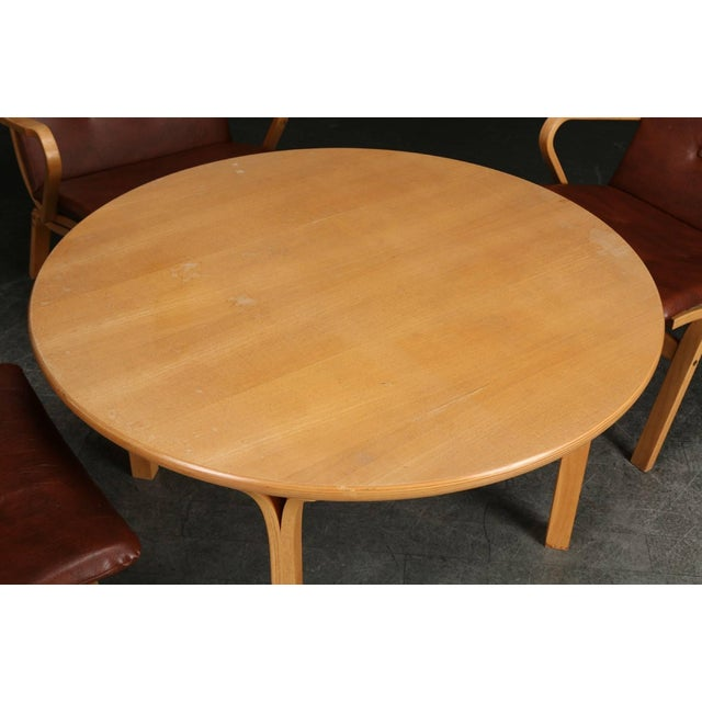 Wood Matching Table by Kurt Stervig for Kp Furniture- Set of 8 For Sale - Image 7 of 8