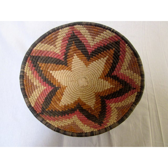 Hand Woven Natural Fiber Large Basket - Image 3 of 6