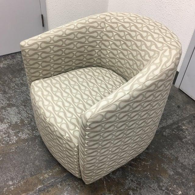 Textile New Della Robbia Mila Swivel Chair For Sale - Image 7 of 7