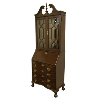 20th Century Chippendale Jasper Cabinet Solid Cherry Style Fall Front Secretary Desk Preview