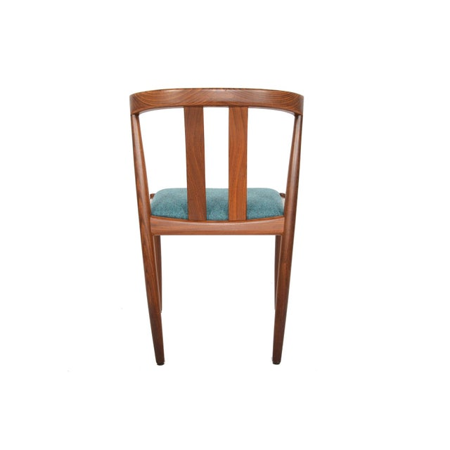 Danish Modern Curved Back Teak Dining Chairs - Set of 6 - Image 6 of 10