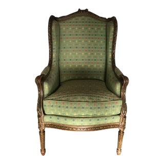 Antique French Louis XVI-Style Bergere For Sale
