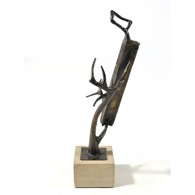 1970s Abstract Bronze Sculpture by Clyde Ball For Sale - Image 5 of 11