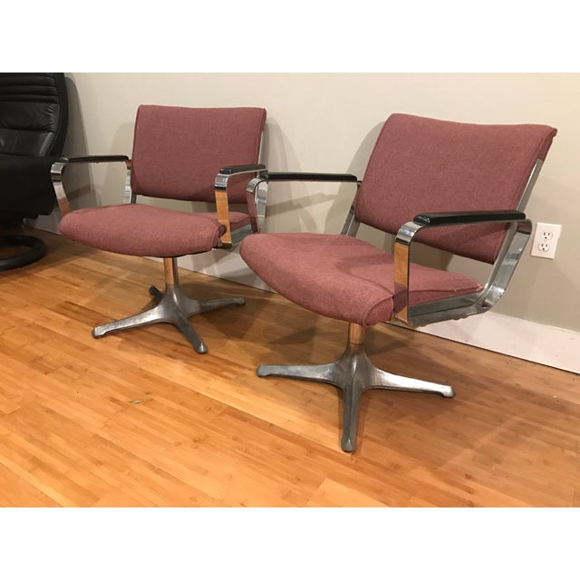 Chrome Eames Style Chairs - A Pair For Sale - Image 5 of 9