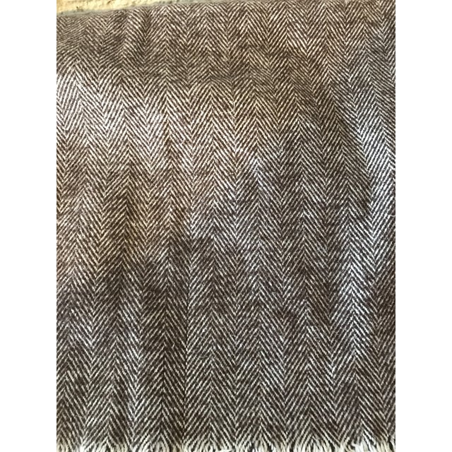 Brown & Ivory Woven Cotton Throw - Image 7 of 10