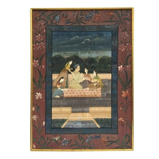 Vintage Indian Framed Pichwai Painting Punjab Hills Chelsea House For Sale