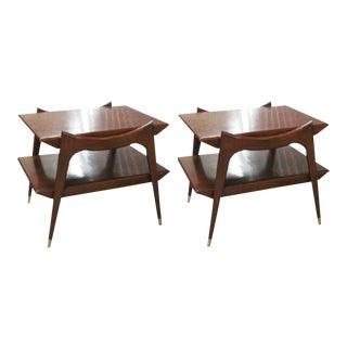 Final Markdown > Finn Juhl Style Mid-Century Modern Walnut Tables