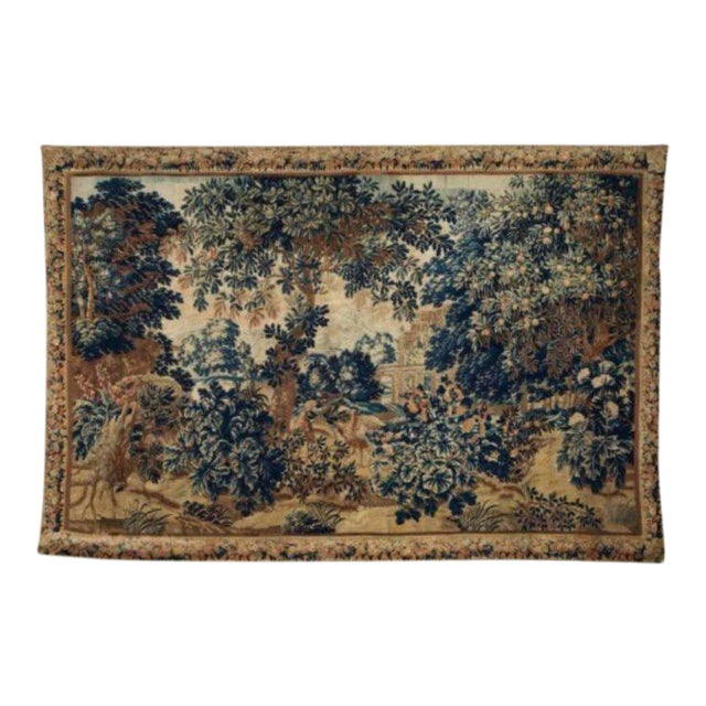 A 17th / Early 18th Century Flemish Pastoral Tapestry Prov. Christies NYC. For Sale - Image 12 of 12