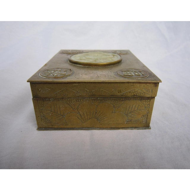 Chinese Brass & Jadeite Box For Sale - Image 4 of 7