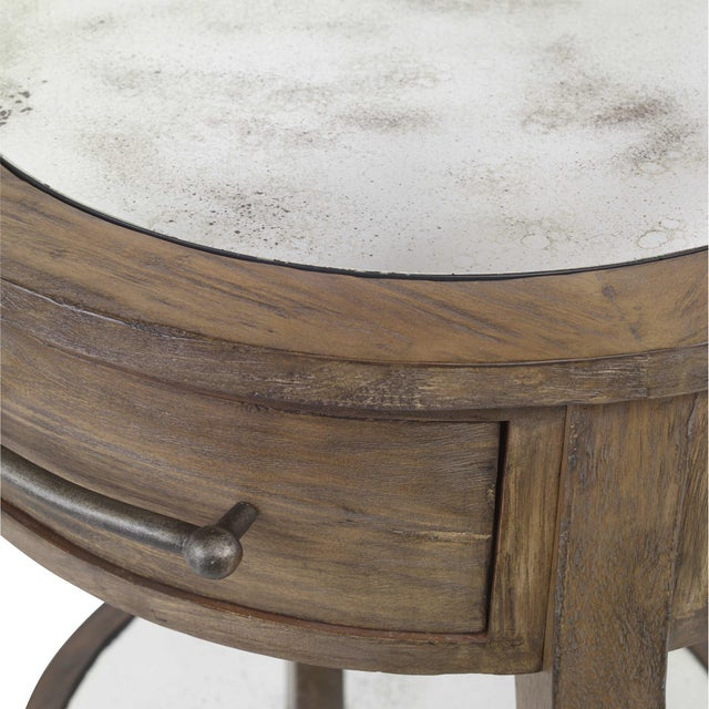Lodge Rustic Lamp Table For Sale - Image 3 of 5