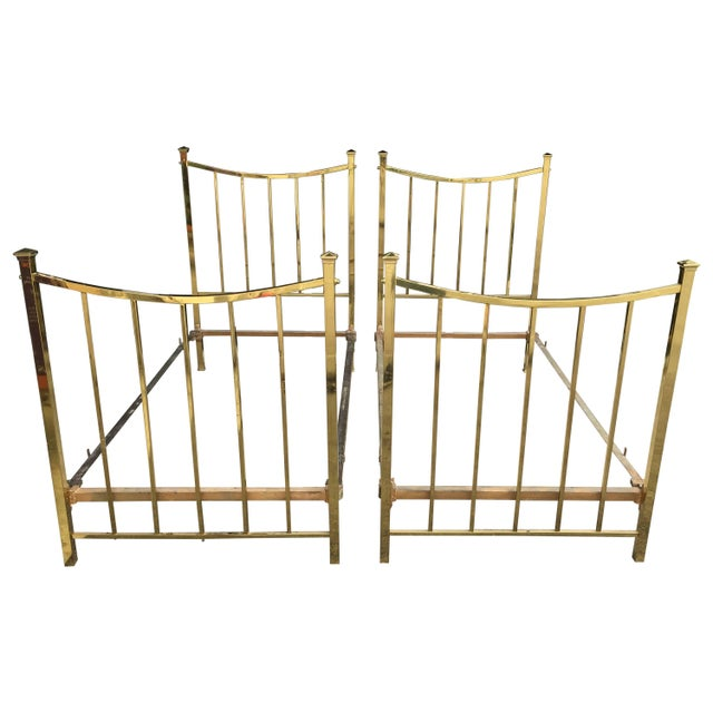 Art Deco Brass Twin Bed French Single, Circa 1930 For Sale - Image 10 of 10