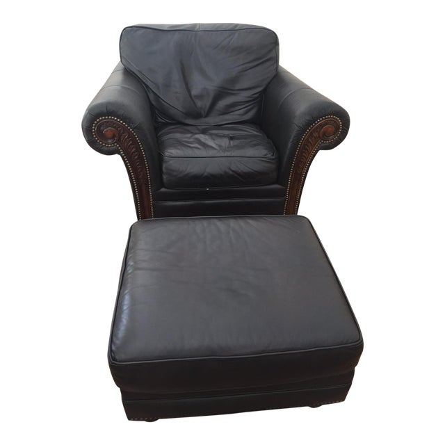 Alexander Taylor Old World Chair & Ottoman - Image 1 of 5