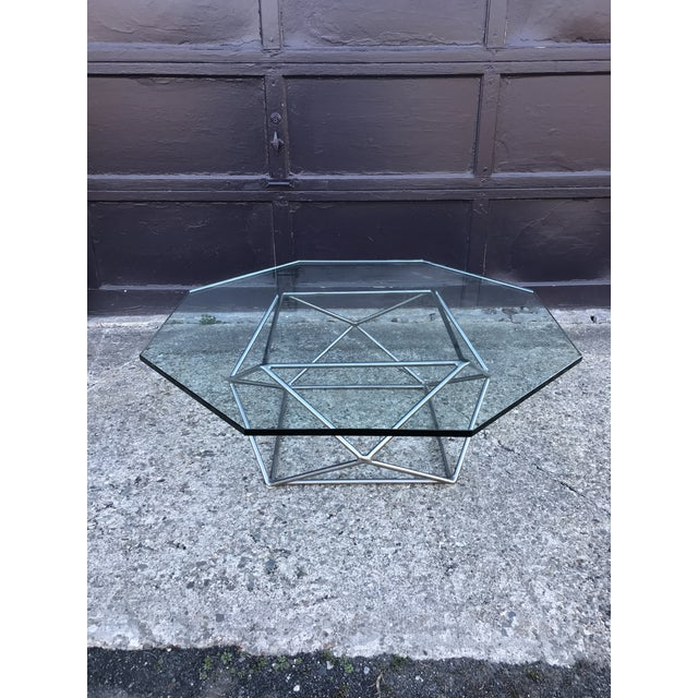 Milo Baughman Sculptural Bronze Coffee Table Directional Furniture For Sale - Image 13 of 13