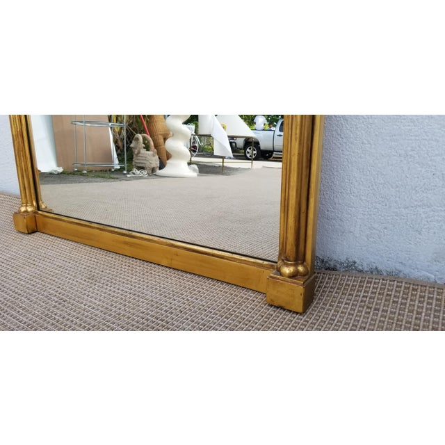 Metal 1970s Hollywood Regency John Widdicomb Gold Carved Wood Wall Mirror For Sale - Image 7 of 11