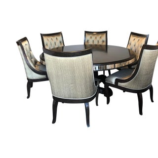 Traditional Marge Carson Astoria Dining Table & Chairs- 7 Pieces For Sale