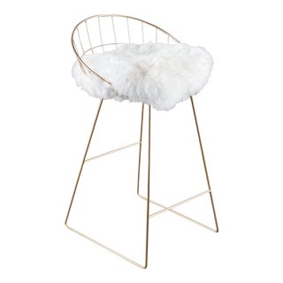 Statements by J Kylie Sheepskin Bar Chair For Sale