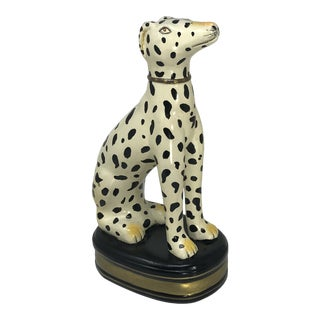 Spotted Porcelain Greyhound Figurine For Sale