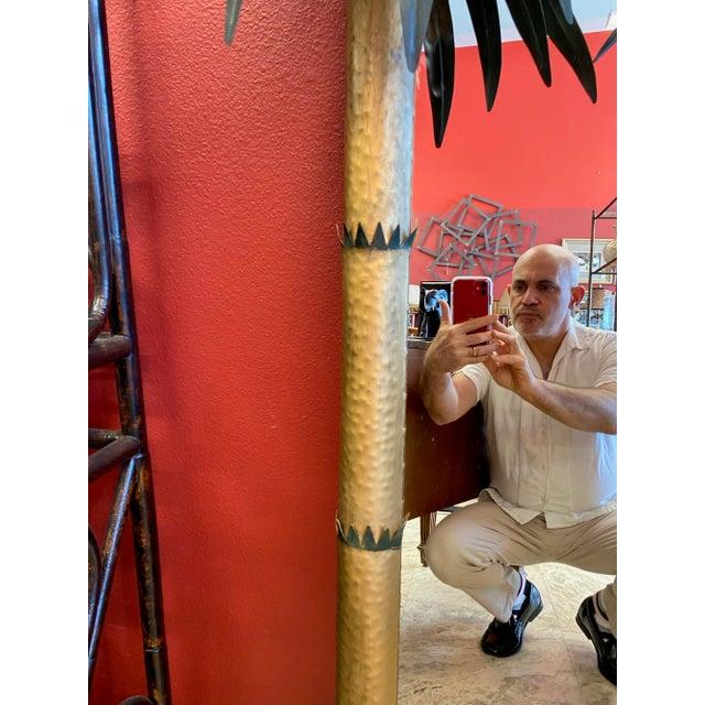 Vintage Palm Beach Regency Tole Palm Tree Framed Gilt Mirror For Sale - Image 10 of 12