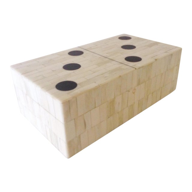 Bone Domino Box For Sale