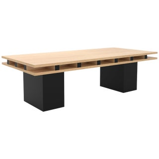 Contemporary 101 Coffee Table in Oak and Black by Orphan Work, 2019 For Sale