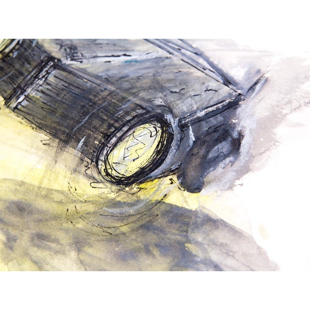 Clif Claycomb Foggy Headlight Watercolor Painting For Sale - Image 4 of 5