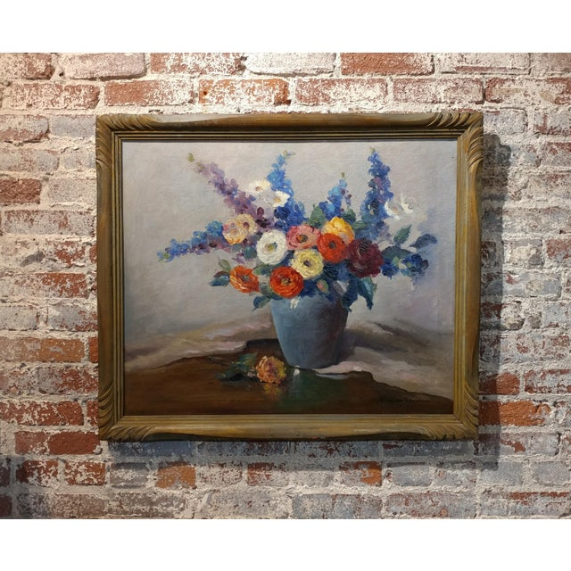 Nell Walker Warner- Large Floral Still Life -Beautiful Oil painting -Impressionist c1920s - Image 2 of 10