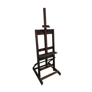 Antique Adjustable Artist Studio Easel For Sale