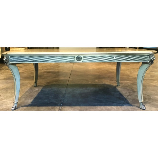 John Widdicomb Hollywood Regency style inlaid coffee table. Beautiful inlaid, bleached, stained wood & high quality coffee...