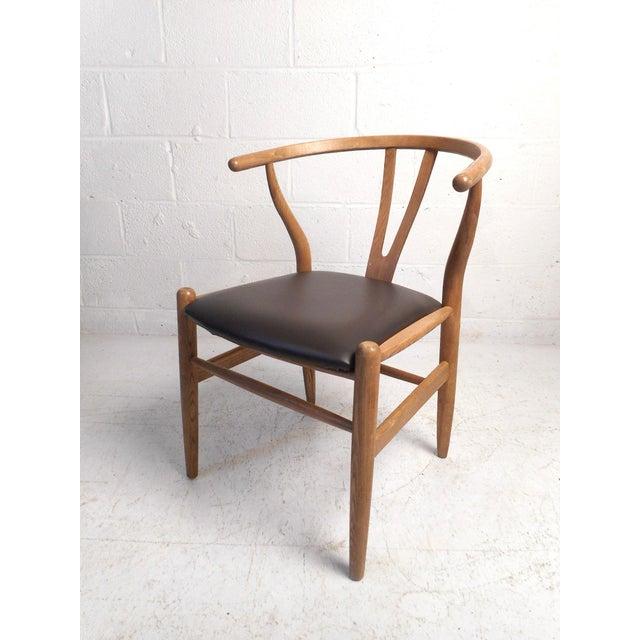 Vintage Modern Wegner Style Wishbone Chair For Sale - Image 13 of 13