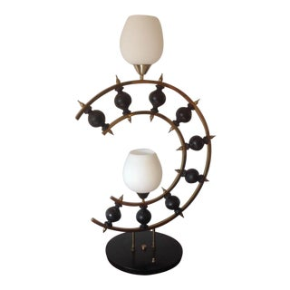 1960s Vintage Laurel Lamp Company Gio Ponti Style Brutalist Lamp For Sale
