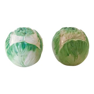 Lettuce Head Salt and Pepper Shakers - a Pair For Sale