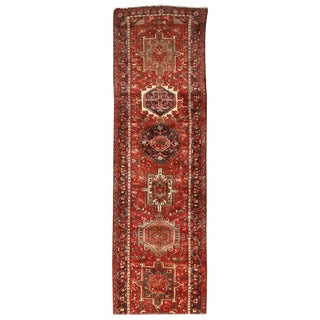 Fine Vintage Persian Heriz Runner For Sale