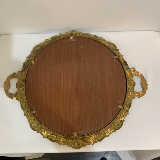 French Gilt Bronze Mirrored Tray For Sale In Miami - Image 6 of 9