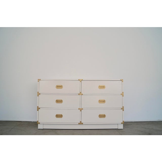 1960's Mid-Century Hollywood Regency Campaign Dresser For Sale - Image 13 of 13