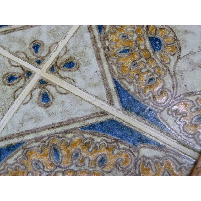 Monterey-Style Spanish Tile Side Table - Image 5 of 6