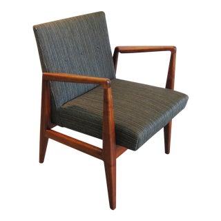 Vintage Jens Risom Walnut Arm Chair