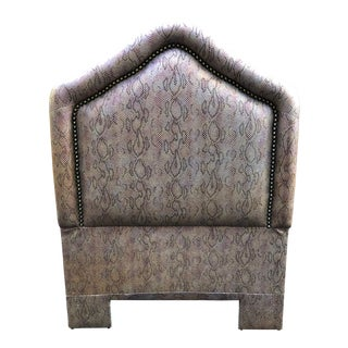 Snakeskin Vinyl Twin Headboard For Sale