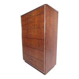 Tall Midcentury Highboy Dresser by John Stuart Inc For Sale
