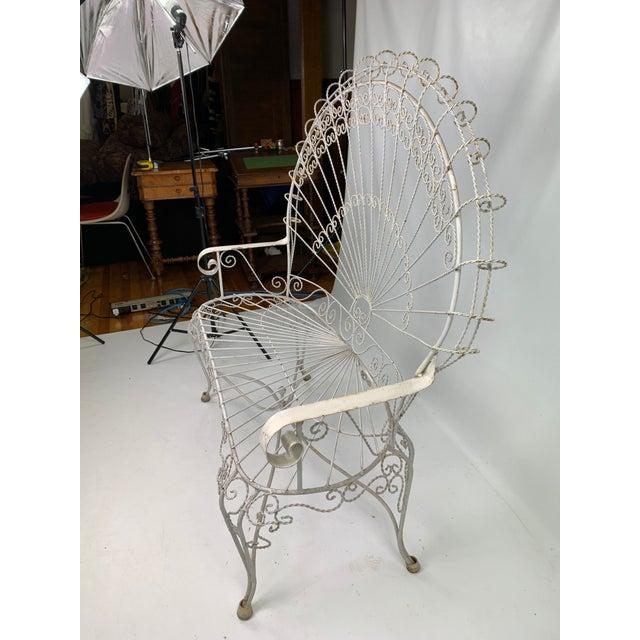 1960s Mid-Century John Salterini CastIron Peacock Settee For Sale - Image 5 of 11