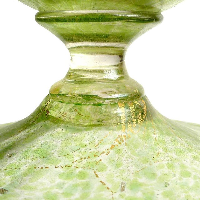 Late 19th Century Salviati Venetian Green Gold Flecks Antique Italian Art Glass Decanter For Sale - Image 5 of 6