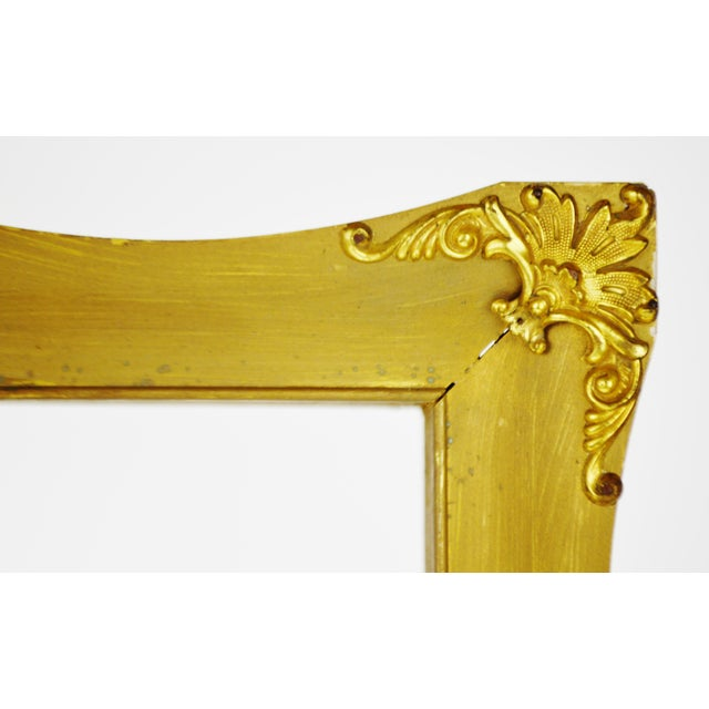 Early Gilt Gesso Shadow Box Wall Shelf with Brass Filigree Adornments For Sale - Image 4 of 11
