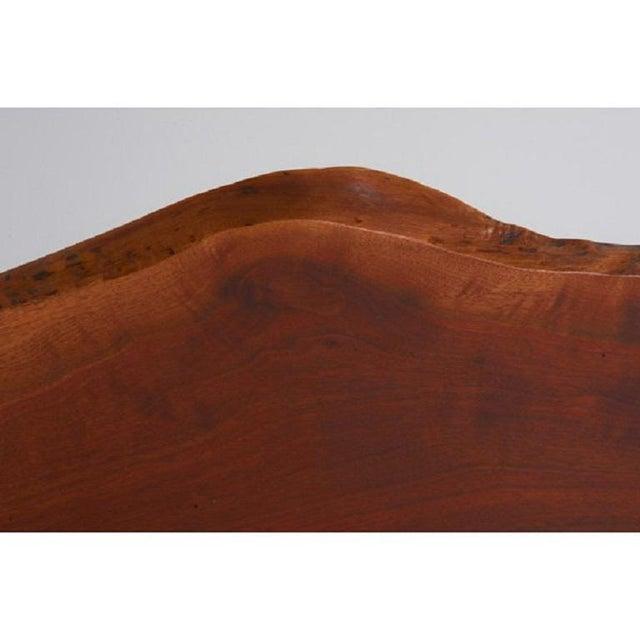 George Nakashima solid walnut, single plank headboard.