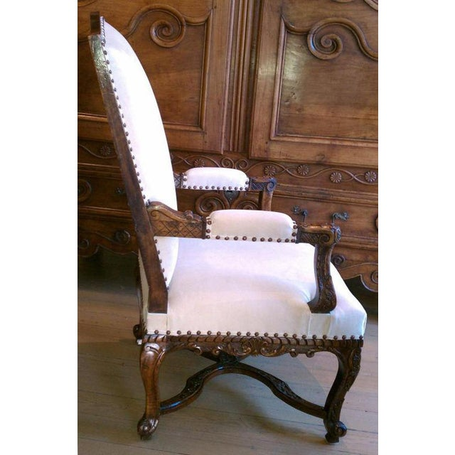 Hollywood Regency 19th Century Regence Walnut Armchair For Sale - Image 3 of 6