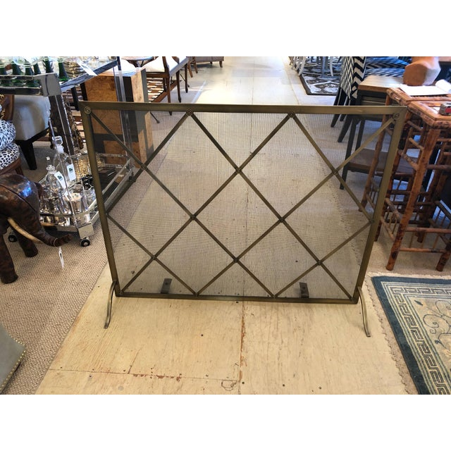 Handsome Large Fireplace Screen For Sale - Image 9 of 11