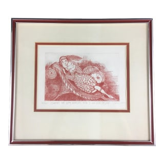 "1973 Carol Lummus ""Comfort Me"" Contemporary Etching Print For Sale"