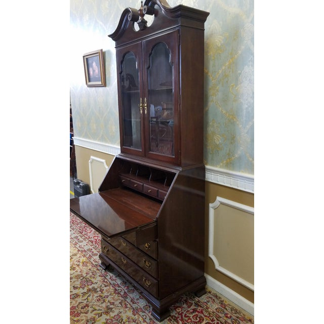 Ethan Allen Cherry Georgian Court Secretary Desk - Image 8 of 8