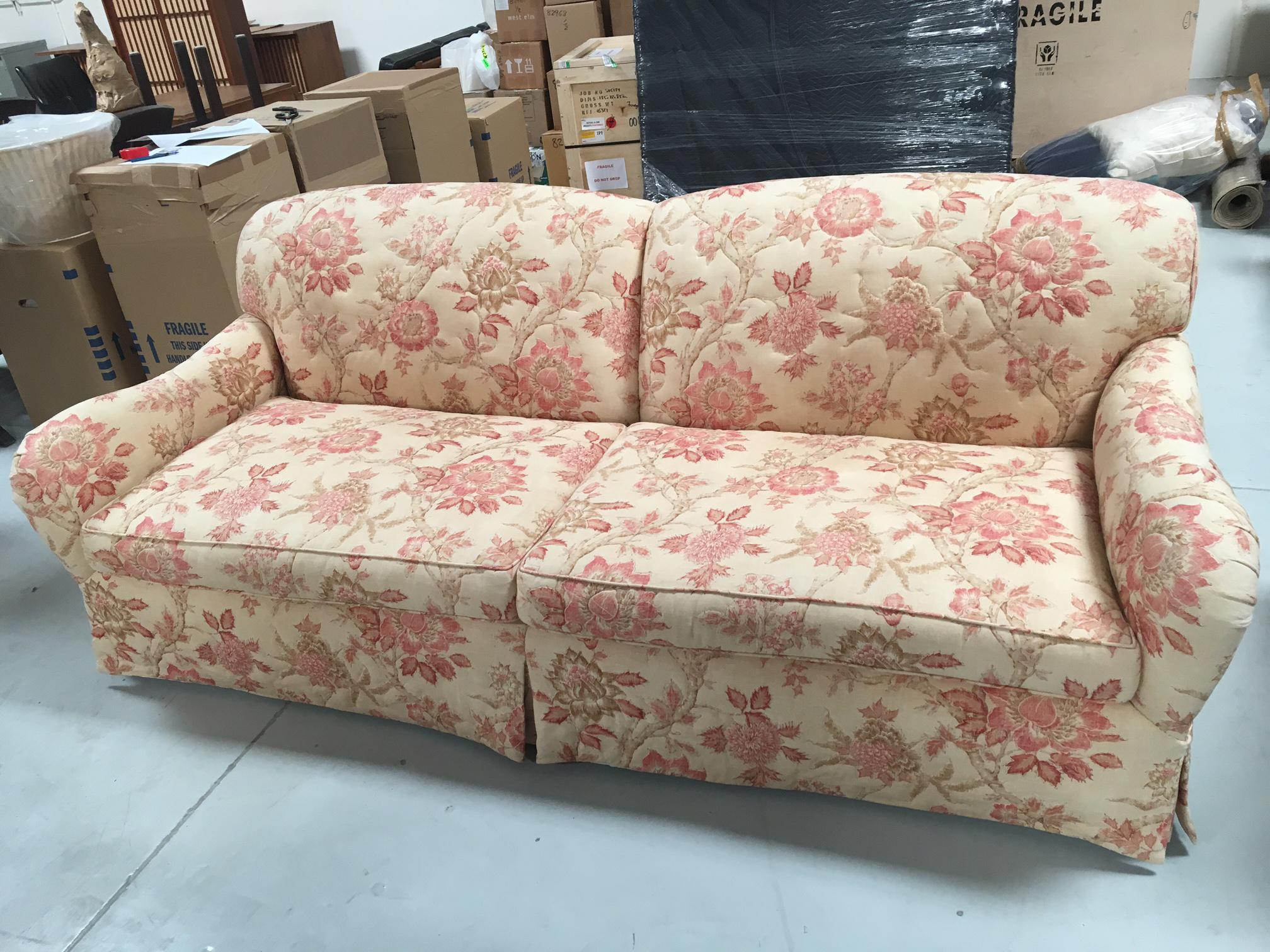 In The Style Of Rose Tarlow Lennox Floral Print Sofa. Reupholstered With  Cowtan U0026 Tout