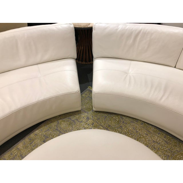 Solstice Curved Sectional + Ottoman From Roche Bobois For Sale - Image 11 of 12