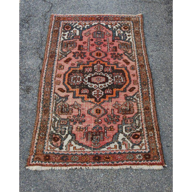 Semi-Antique Persian Kirman Rug. c.1940's Hand knotted with lovely colors. Very good vintage condition with age...
