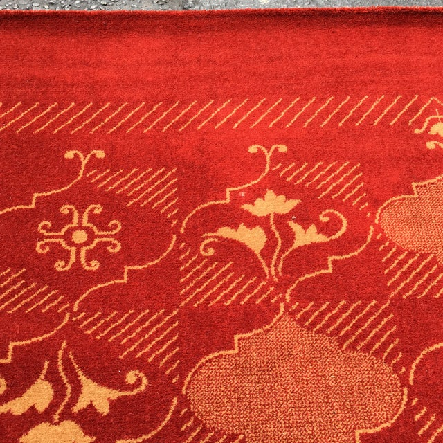 Red Prado Epos Red Wool Area Rug - 6′6″ × 9′10″ For Sale - Image 8 of 8